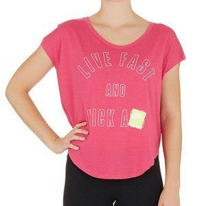 Nike T-shirt top tee Live Fast and Kick Pink M